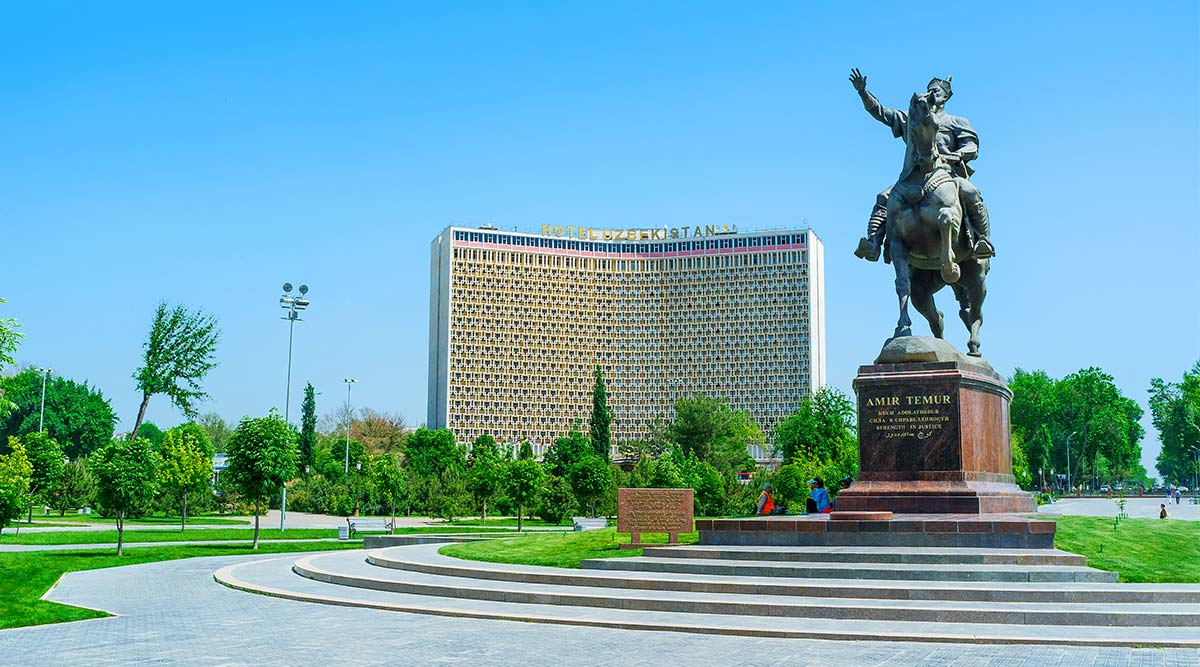 Head to the capital Tashkent